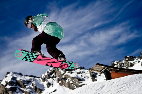 Youth Snowboard and Ski freestyle competition at The Remarkables, New Zealand